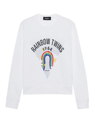 DSQUARED2 Rainbow Sweater White
