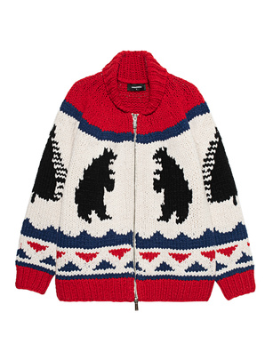 DSQUARED2 Heavy Knit Wool Multicolor