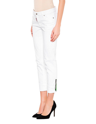 DSQUARED2 Super Skinny Cropped White