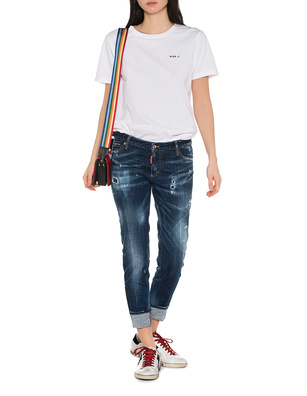 DSQUARED2 Super Skinny Cropped Jean Blue