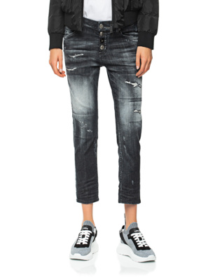 DSQUARED2 Cool Girl Cropped Jean Black