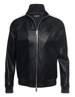 DSQUARED2 Leather Blouson Black