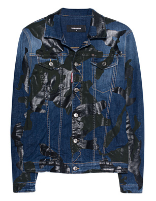 DSQUARED2 Camo Denim Blue