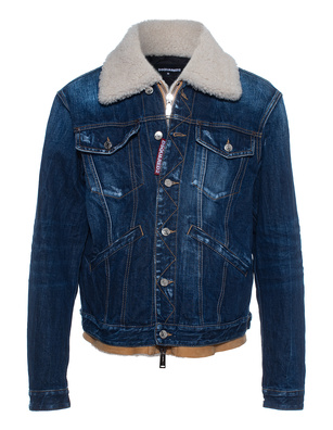 DSQUARED2 Lamb Fur Denim