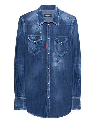 DSQUARED2 Destroyed Chemise Blue