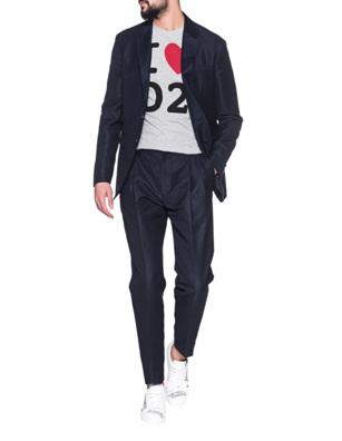 DSQUARED2 Wool Linen New York Navy