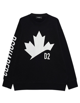 DSQUARED2 Leaf Slouch Black