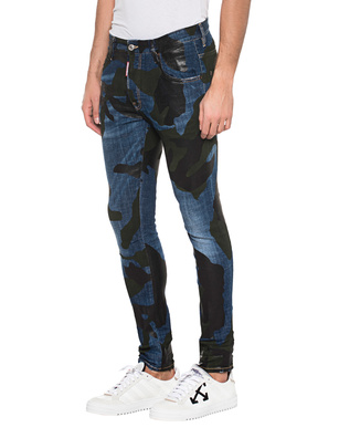 DSQUARED2 Skater Camo Blue