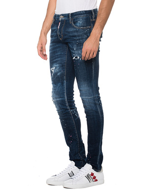 DSQUARED2 Slim Jean Pink Paint Blue