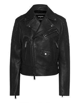 DSQUARED2 Leather Biker Black