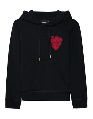 DSQUARED2 Heart Embroidery Black