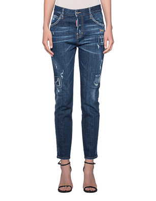 DSQUARED2 Cool Girl Stitching Blue