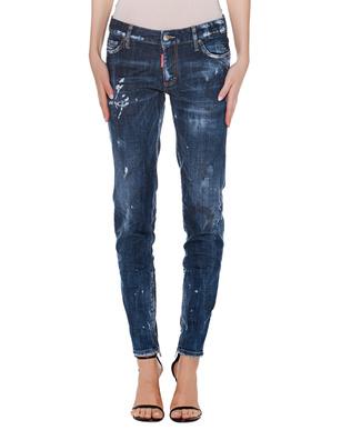 DSQUARED2 Mid Waist Skinny Zip Blue