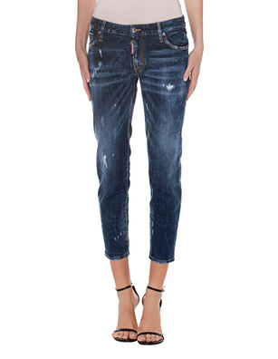 DSQUARED2 Mid Waist Cropped Twiggi Blue