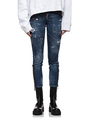 DSQUARED2 Jennifer Cropped Jean Blue