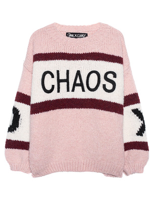 PAUL X CLAIRE Oversize Chunky Embroidery Rose
