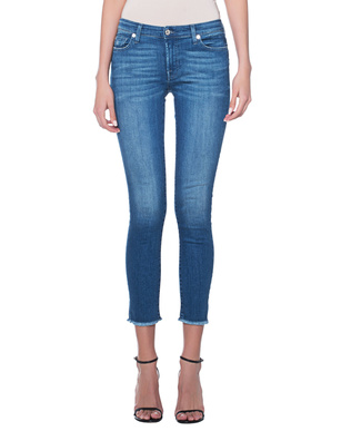 7 FOR ALL MANKIND Pyper Crop Blue