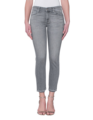 7 FOR ALL MANKIND Roxanne Crop NY Grey