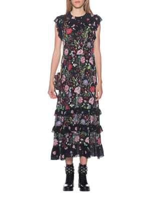 RED VALENTINO Long Dress Flower Multicolor