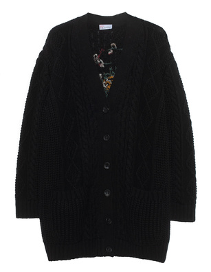 RED VALENTINO Cosy Embroidery Black