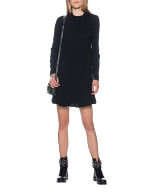 RED VALENTINO Crepe Dress Black