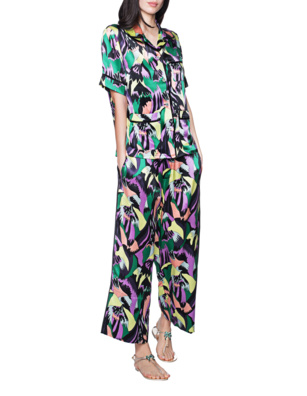 OLIVIA VON HALLE Silk Set Print Multicolor