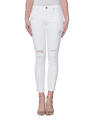 AG Jeans The Legging Ankle Destroyed White