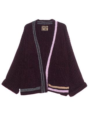 CAMOUFLAGE COUTURE STORK Oversize Stripe Knit Bordeaux