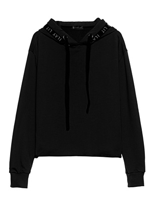 ILAY LIT Holy Organic Cotton Hood Black