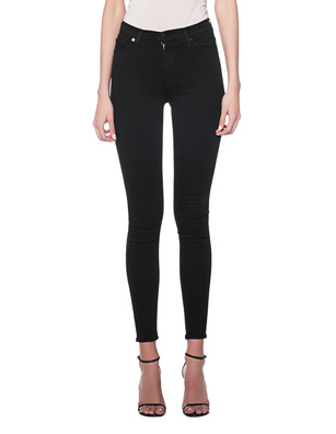 7 FOR ALL MANKIND High Waist Skinny Black