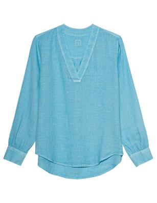 120% LINO V Neck Turquoise Malibu