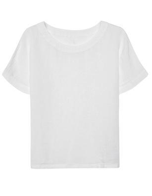 120% LINO Shirt Linen White