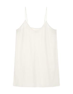 JADICTED Silk V Neck Off White