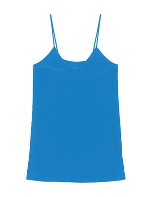 JADICTED Silk V Neck Blue