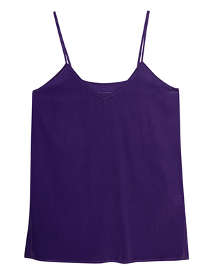 JADICTED Silk V Neck Purple
