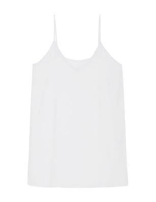 JADICTED Silk V Neck White