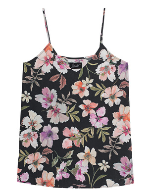 JADICTED V Neck Silk Flower Multicolor