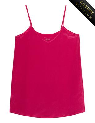 JADICTED V Neck Heavy Silk Pink