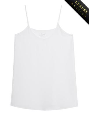 JADICTED V Neck Heavy Silk White