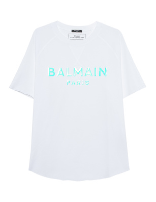BALMAIN Hologram Logo White