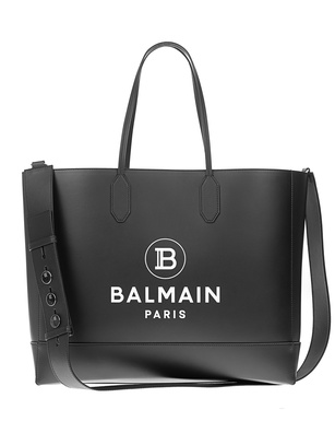 BALMAIN Shopper Logo Black