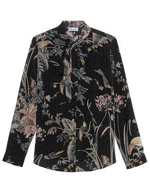 RED VALENTINO Flowers and Birds Multicolor