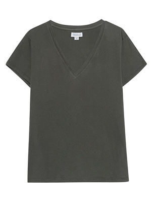 VELVET BY GRAHAM & SPENCER Oversize V Neck Oliv