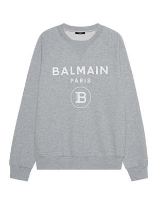 BALMAIN Logo Flock Grey