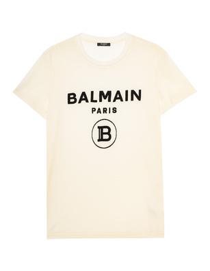 BALMAIN Velvet Logo Off-White