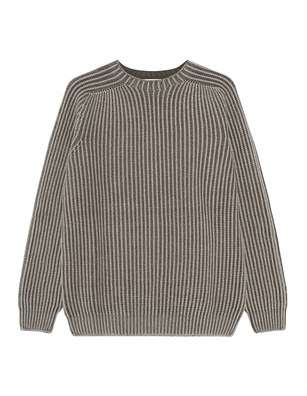 Dondup Chunky Knit Stripe Grey