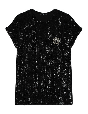 BALMAIN Sequined Patch Black