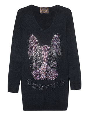 CAMOUFLAGE COUTURE STORK Frenchie Knit Black