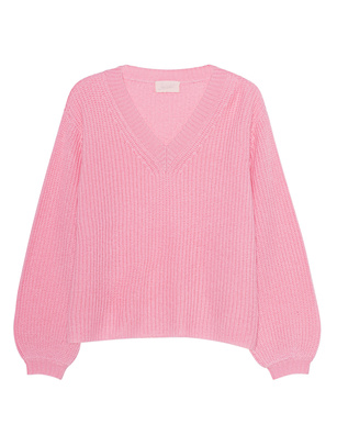 JADICTED V-Neck Knit Cashmere Rose