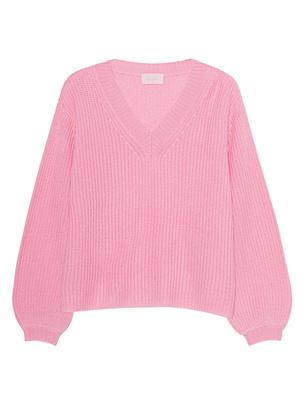 JADICTED V-Neck Knit Cashmere Rose